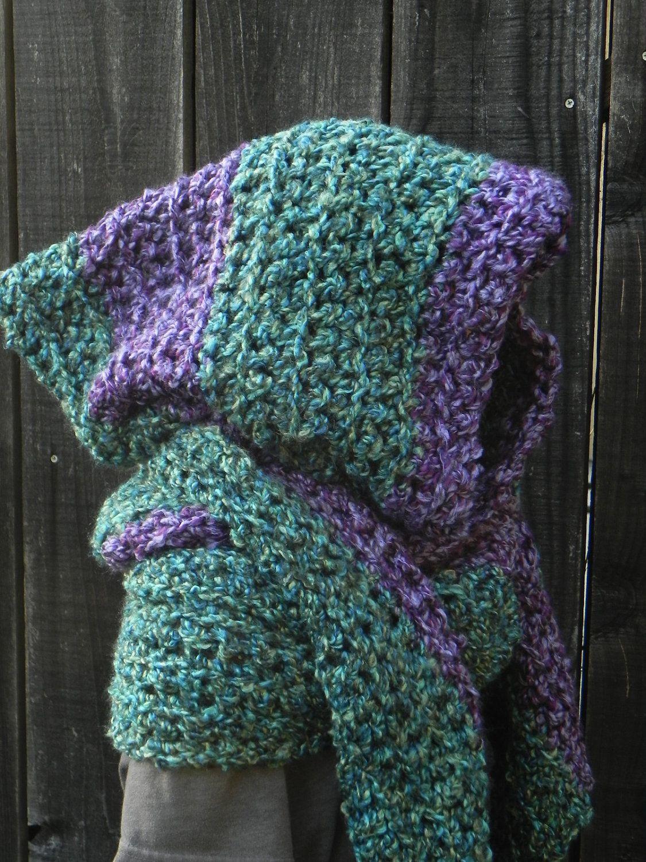 Easy Crochet Pattern, Hooded Scarf, Scoodie Hoodie, crochet hat ...