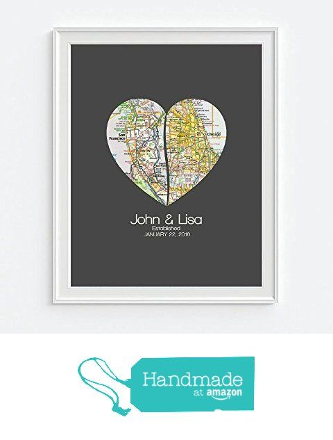 Custom Wedding Couple Split 2 Heart Maps Art Print, UNFRAMED, Wedding gift, Personalized & Customized, Engagement Gift, Anniversary Gift, Valentines day gift, Housewarming gift from Art for the Masses https://www.amazon.com/dp/B01BX6M4I0/ref=hnd_sw_r_pi_dp_QQ29ybET9HYWJ #handmadeatamazon