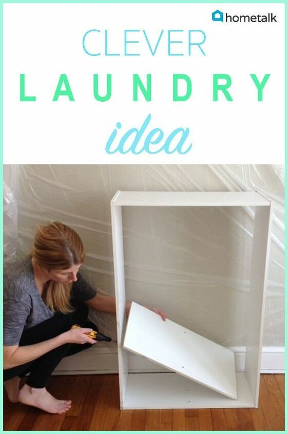How Turn An Empty Bookshelf Into A Laundry Basket Station DIY