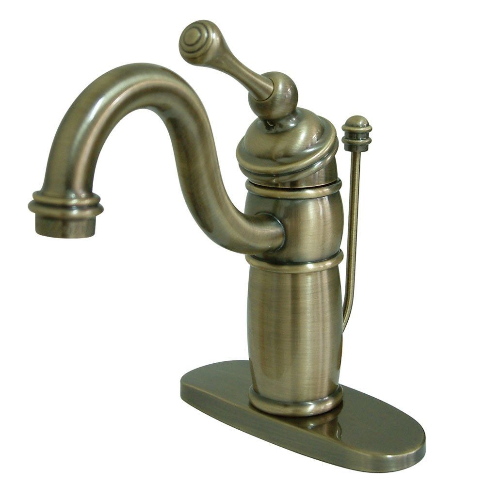 Bathroom Faucets Kingston kingston brass vintage brass single handle bathroom faucet w drain