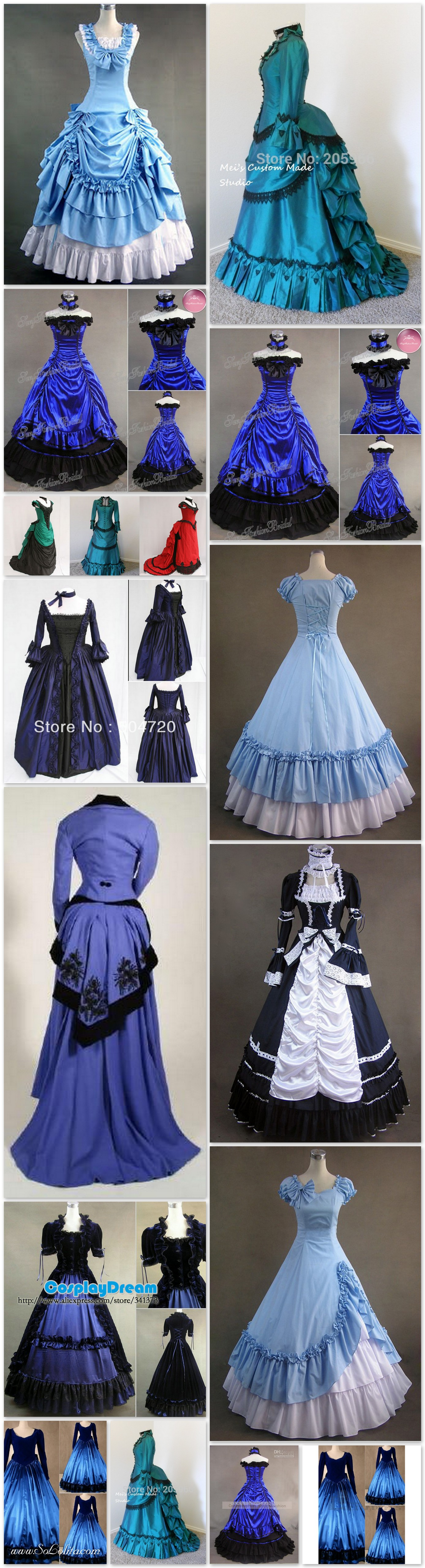 To acquire Victorian blue style dresses for sale photo picture trends