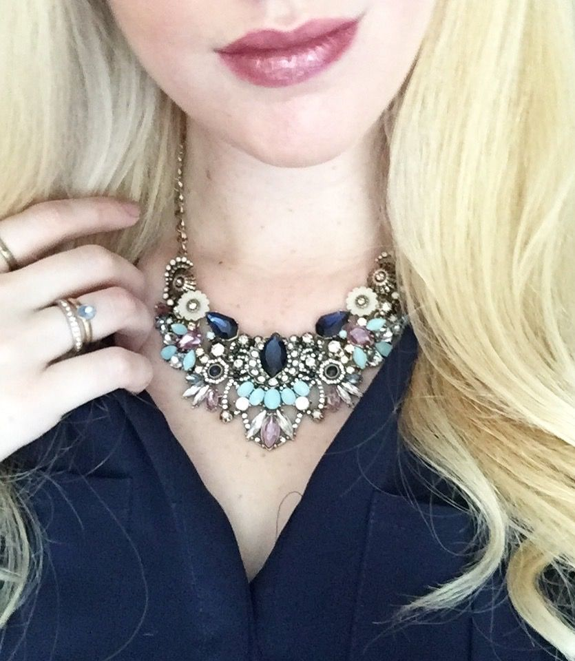 Our Parisian Belle Convertible Statement Necklace never looked so good on Merchandiser Kendra!