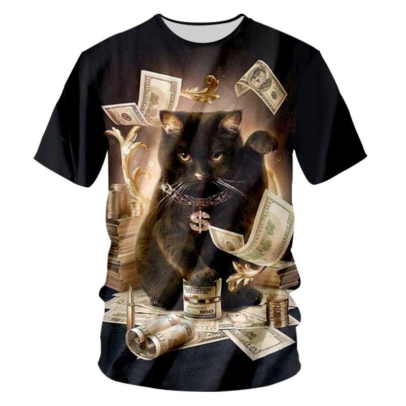 Black Cat Money T shirts, 3D T-shirt, Dollar Cat Shirt Black cat money,  dollars printed 3D top for men and women. Beautifully made t-shirt that  anyone who ...
