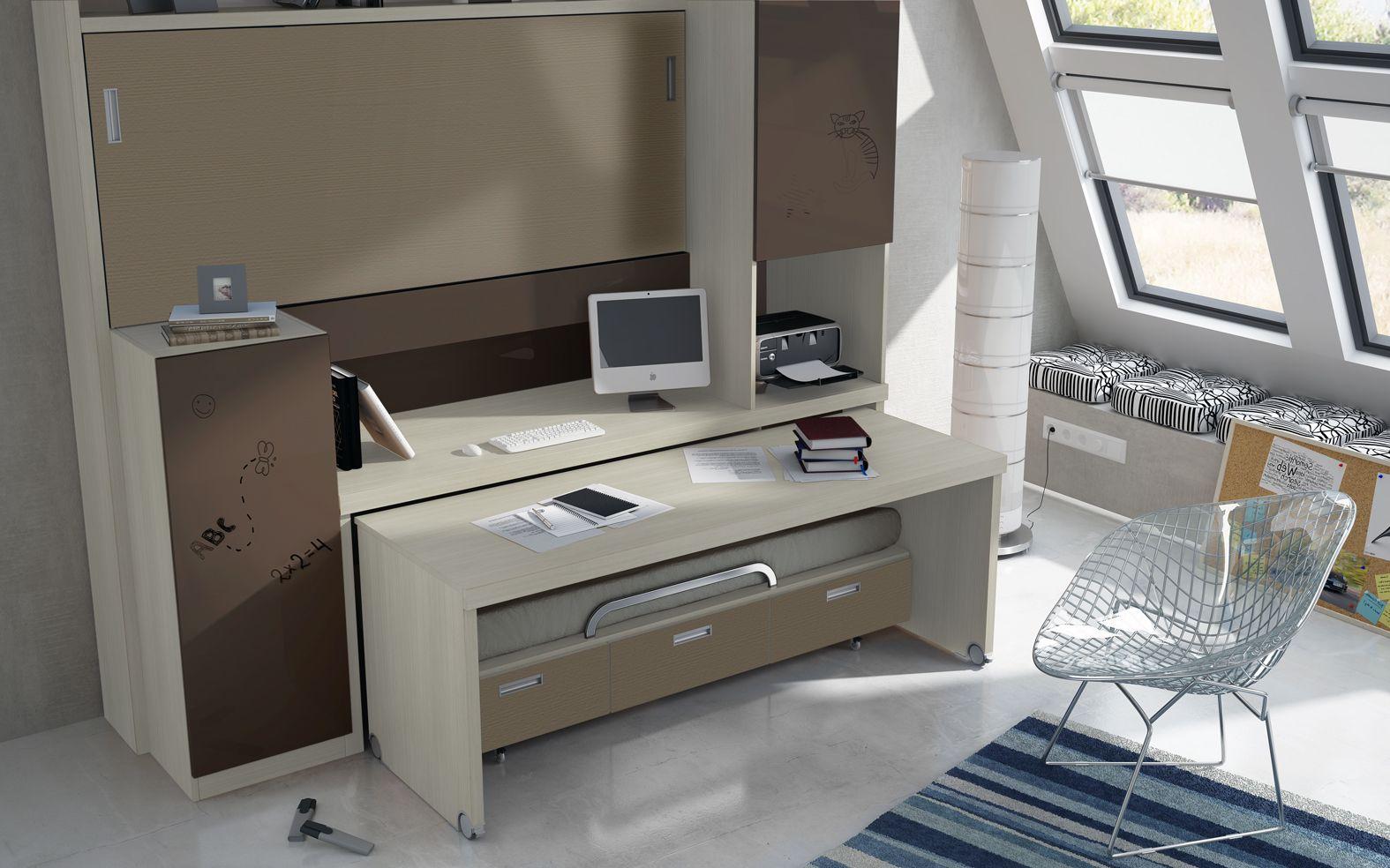 Resultat d 39 imatges de cama nido escritorio habitacions for Cama nido con escritorio