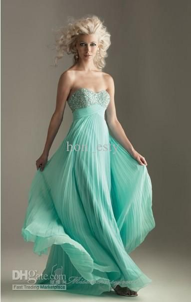 Wholesale 2012 turquoise chiffon sweetheart neckline Prom Dress Evening Gown 6237, Free shipping, $87.2-126.5/Piece | DHgate