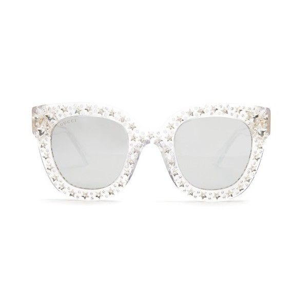 26a7ac34798b6 Gucci Oversized embellished acetate sunglasses ( 1