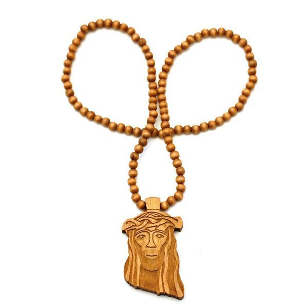 Stylewood X Jesus Piece Wooden Necklace Accessories Wooden