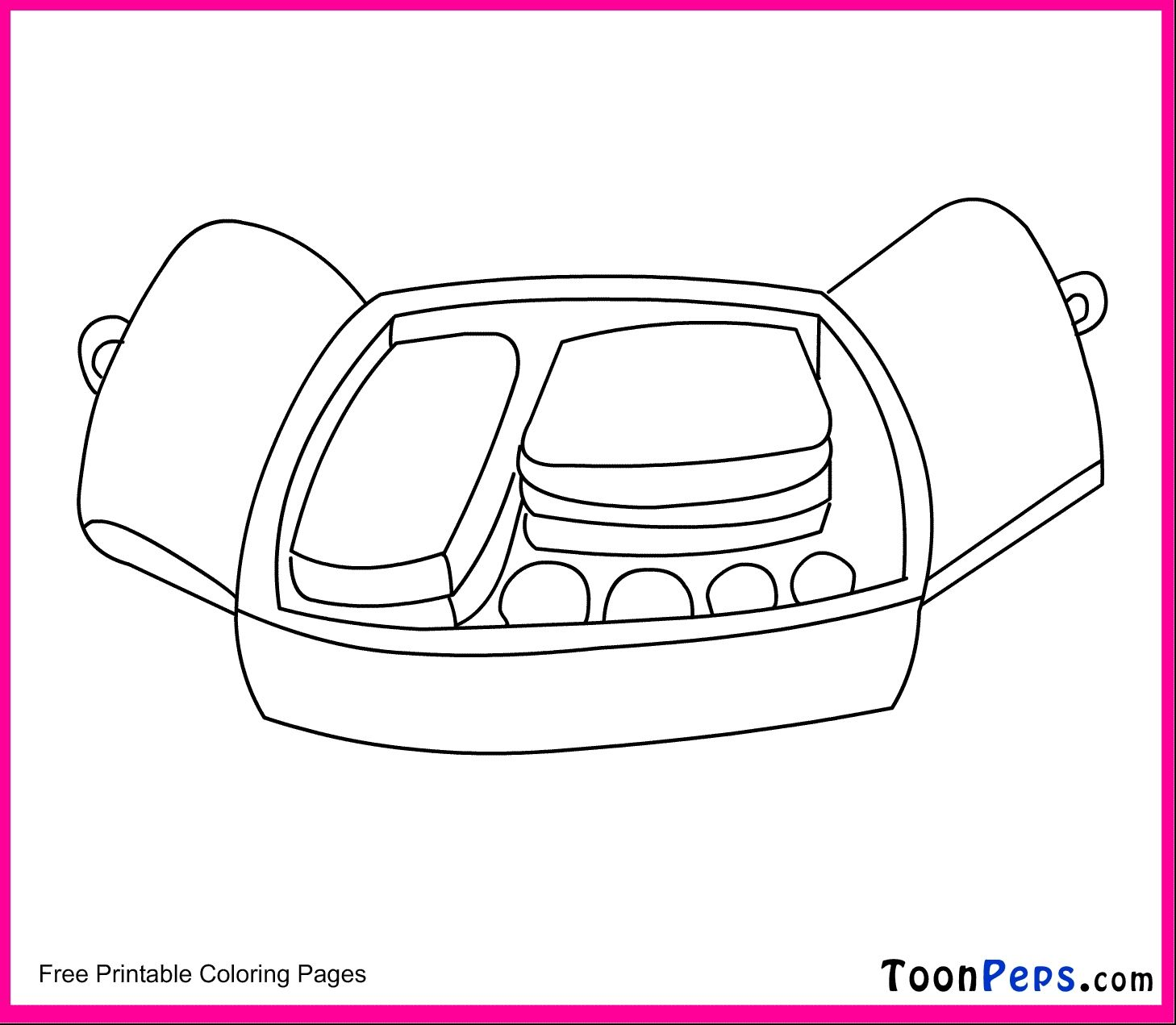 Lunch Box Coloring Pages Collection
