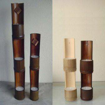 candelabro de bambu