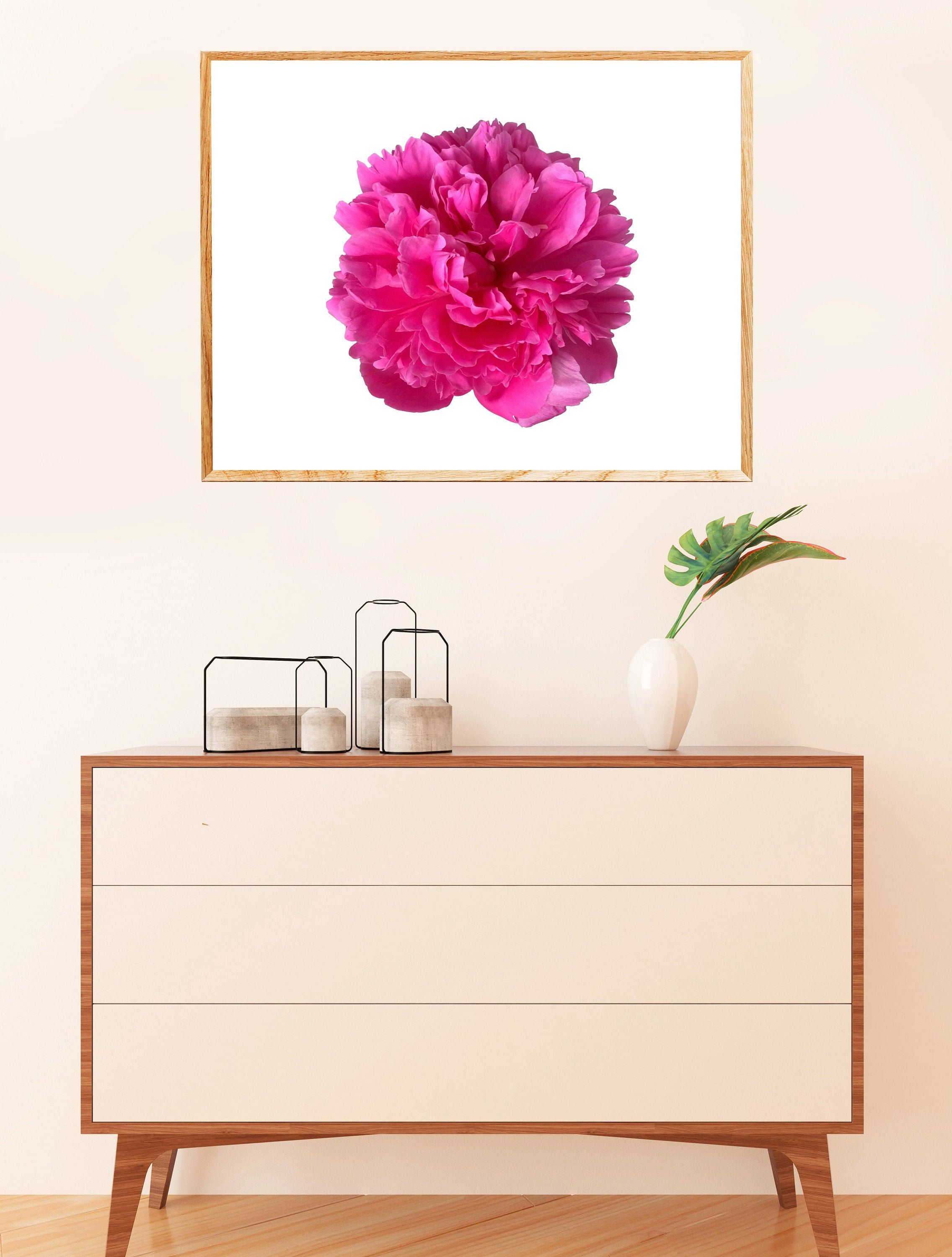 Floral Wall Art Hot Pink Peony Print Flower Photography Etsy Pink Peonies Print Floral Wall Art Floral Wall