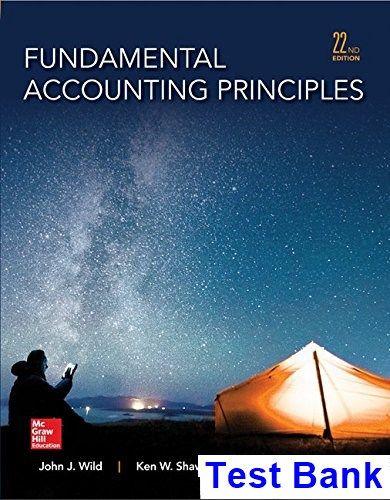 fundamental accounting principles 22nd edition wild test bank test rh pinterest co uk Fundamentals Accounting Notes Accounting Fundamentals UCF
