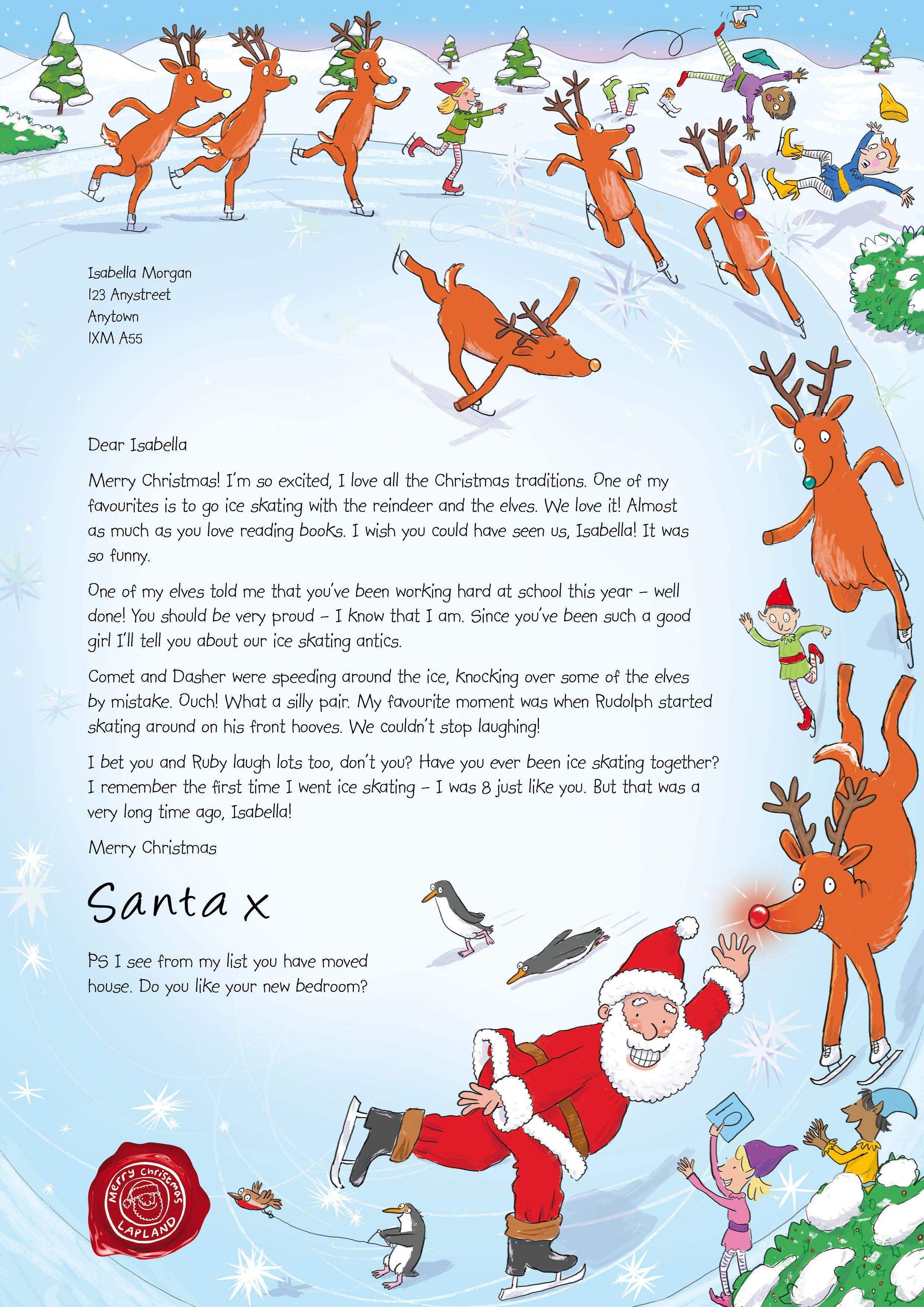 NSPCC Letter from Santa design (December 2014) Santa
