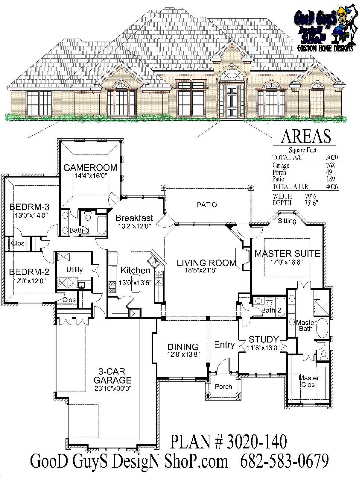 Plan 3020sqft 140 House Plans Square House Plans Bedroom House Plans