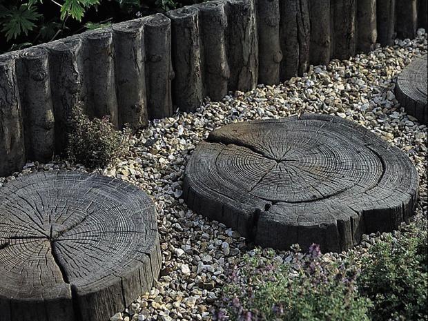 Die EHL Trittsteinplatte Stonewood dient Ihrem Garten als - trittplatten selber machen