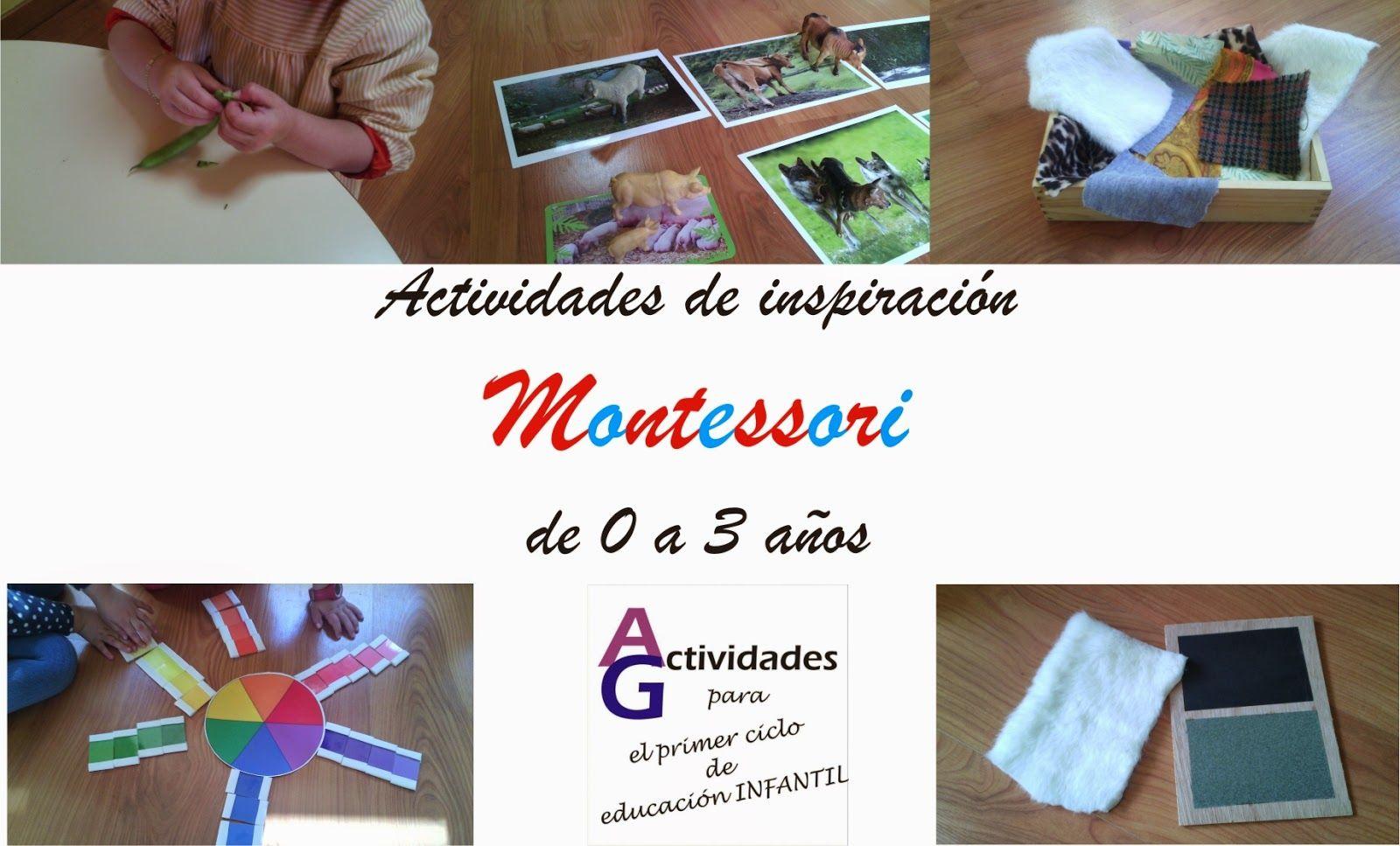 Actividades Para El Primer Ciclo De Educación Infantil Montessori 0 3 Años Actividades Montessori Actividades Sensoriales Infantiles Montessori