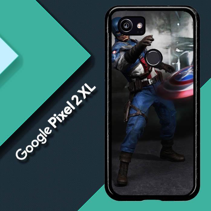 Captain America Uniform WALLPAPER Y1213 Google Pixel 2 XL Case