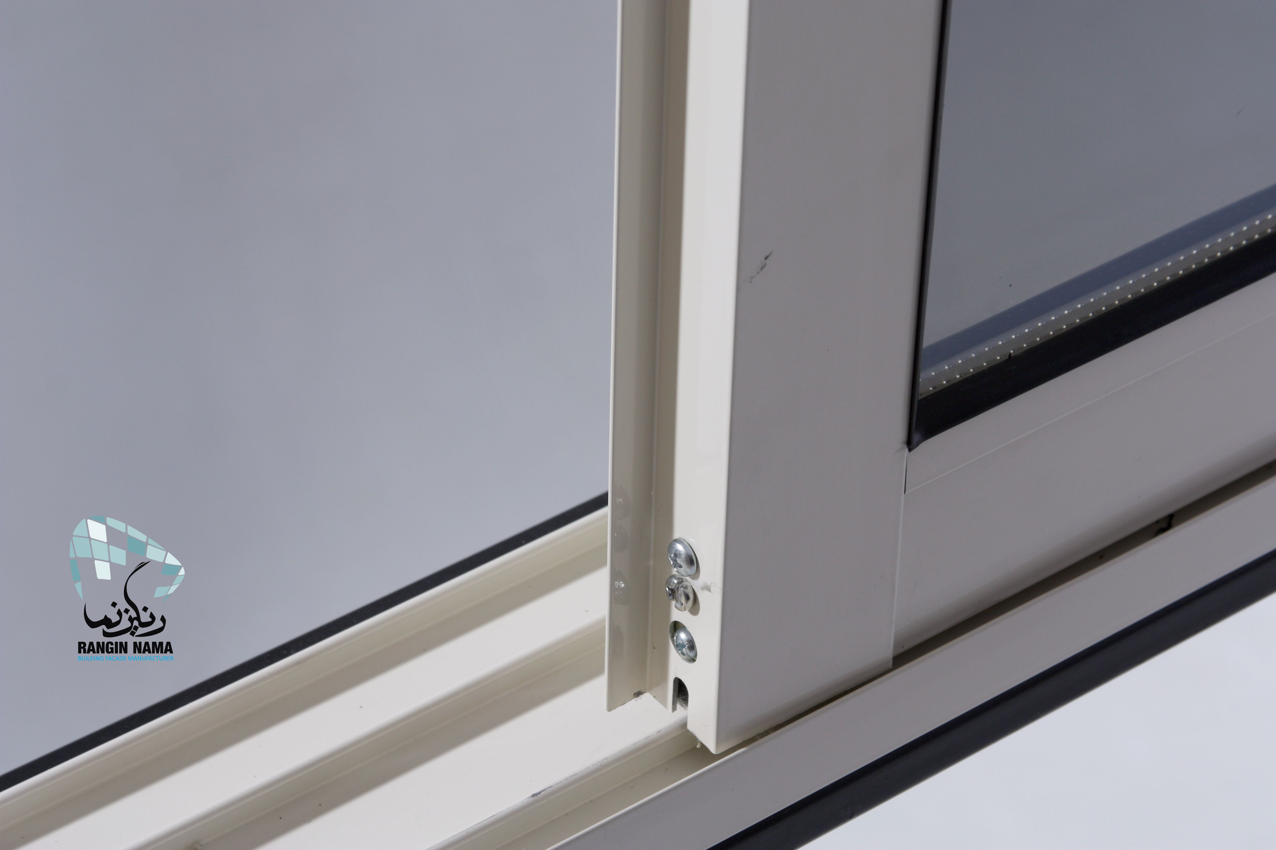aluminum window features elegant frame weather gasket all over the frame slightly slope in bottom rail rail for window screen adjustable ball bearings - Window Screen Frame Material