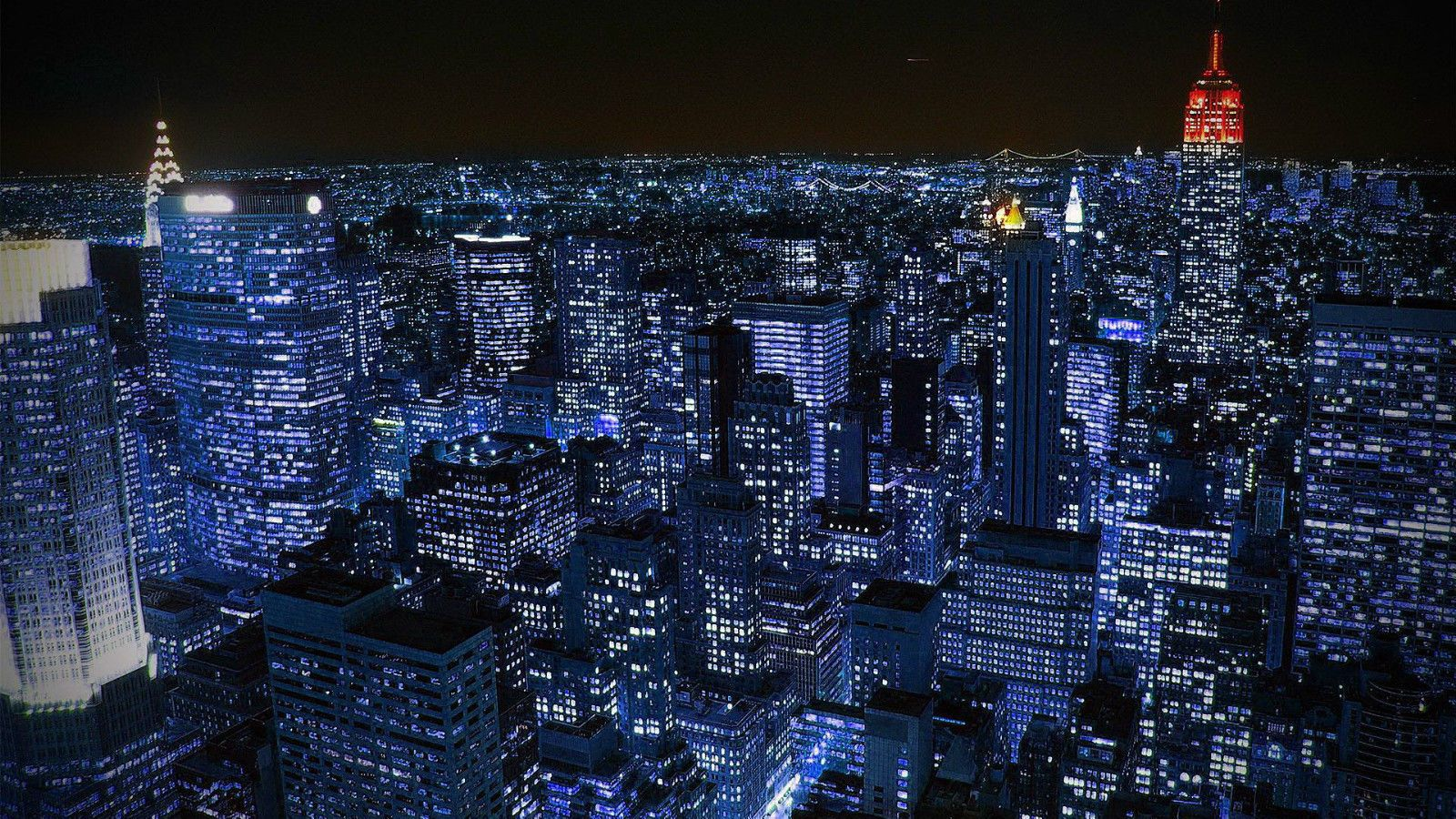 New York Cityscape Nightime A1 Size Print Canvas City Usa Manhatten City Wallpaper New York City Background Nyc At Night