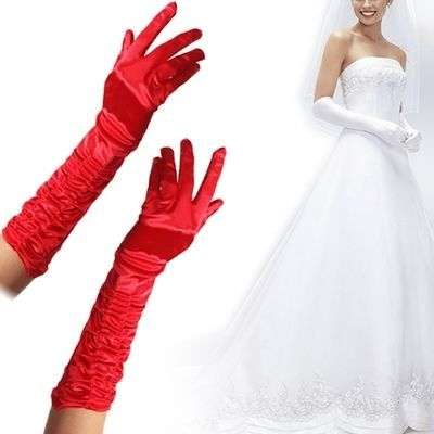 amazones gadgets D Fashion Pair of Long Gloves for Wedding Banquet Performance (Red): Bid: 7,54€ Buynow Price 7,54€ Remaining 09 dias 04 hrs