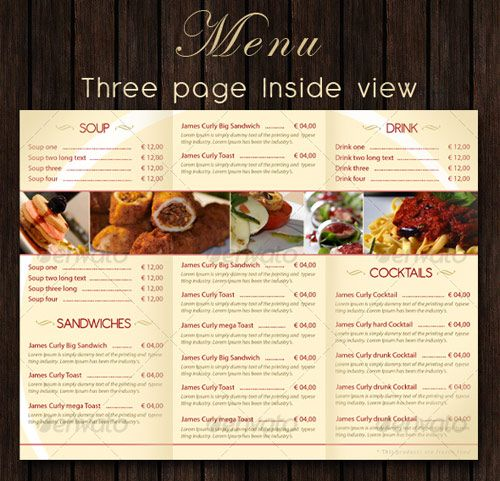 25 High Quality Restaurant Menu Design Templates | Menu, Food menu ...