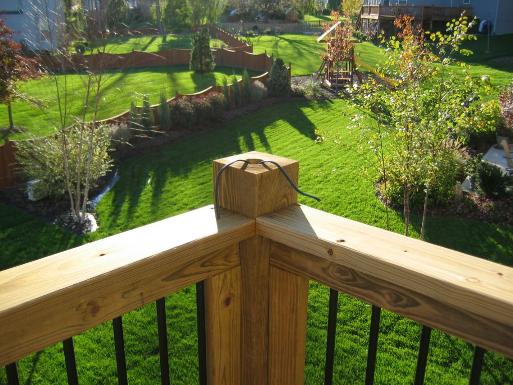 Photo Tutorial On How To Install Low Voltage Deck Lighting