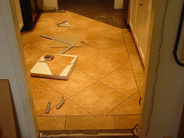 Dura Ceramic Tile Install In Kitchen With Border Tucson Az Top Floor Installation Co