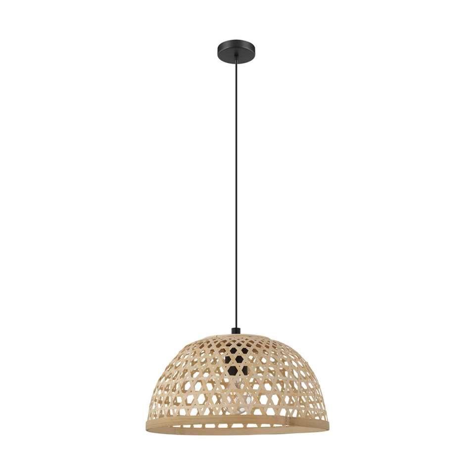 Eglo Hanglamp Claverdon 37 Cm Zwart Hout Hanglamp Lampen Kinderkamer Lampen