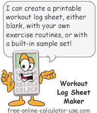 Workout Log Sheet Maker This Free Online Workout Schedule Maker