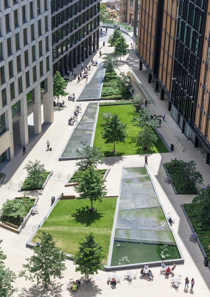 Pancras plaza kings cross london 02 copyright john for Green landscape design