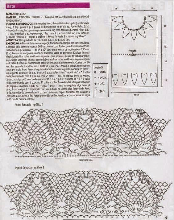 Blusa muy fresca y de lindo diseño / patrones crochet | Crochet y ...