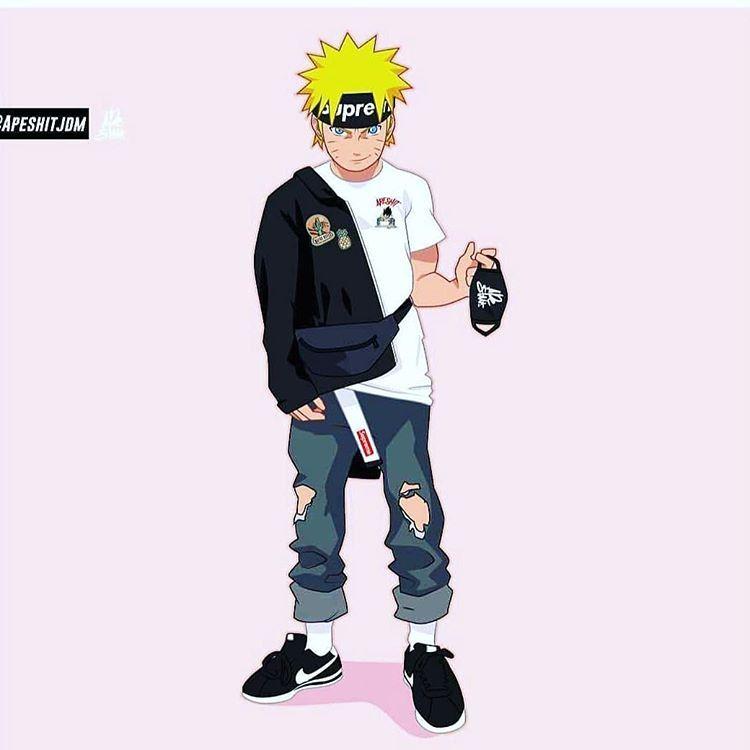 Fashion Of The Time บน Instagram Nike Shoes Naruto Supreme Naruto Wallpaper Iphone Supreme Wallpaper