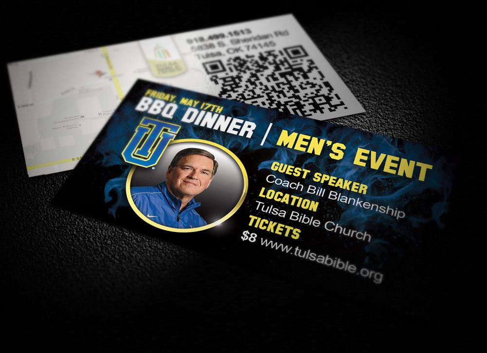 Tulsa Bible Church event invitation card | Business Card Designs ...