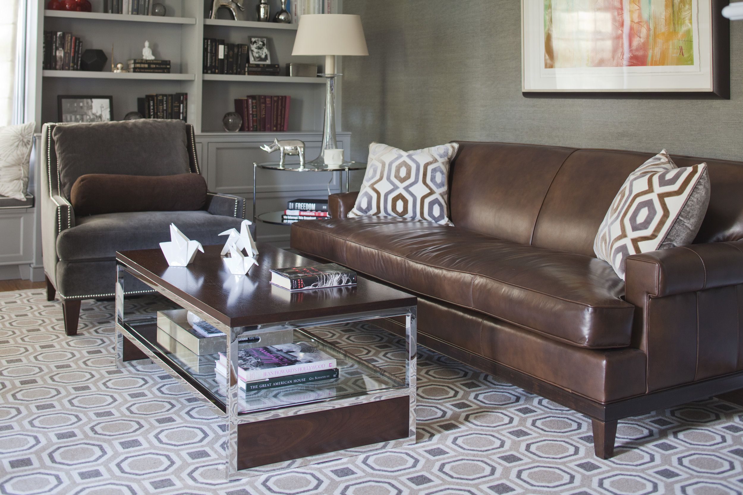 Astounding Study Office In 2019 Brown Leather Sofa Living Room Brown Theyellowbook Wood Chair Design Ideas Theyellowbookinfo
