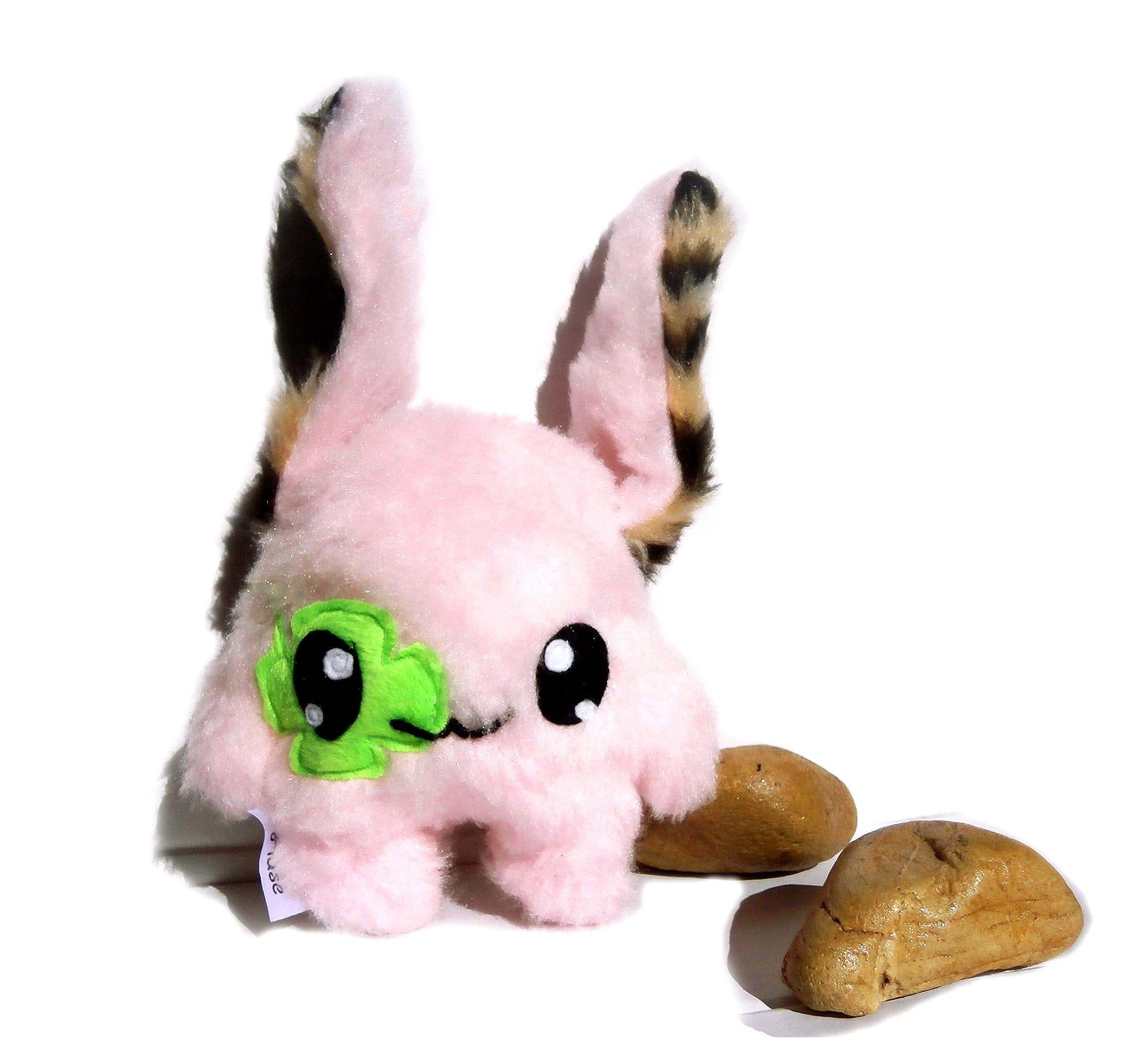 Kawaii Plush Monster Hase weiss pink Handarbeit Unikat: Amazon.de: Küche & Haushalt