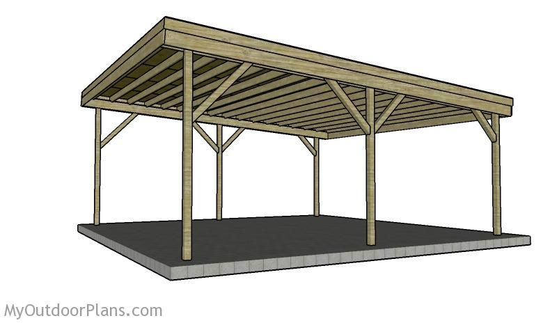 Building a double carport plans how to build a carport for Open carport plans