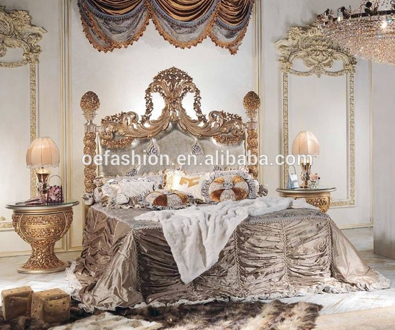 Baroque Italy Style New Bedroom Furniture Royal Luxury Bedroom