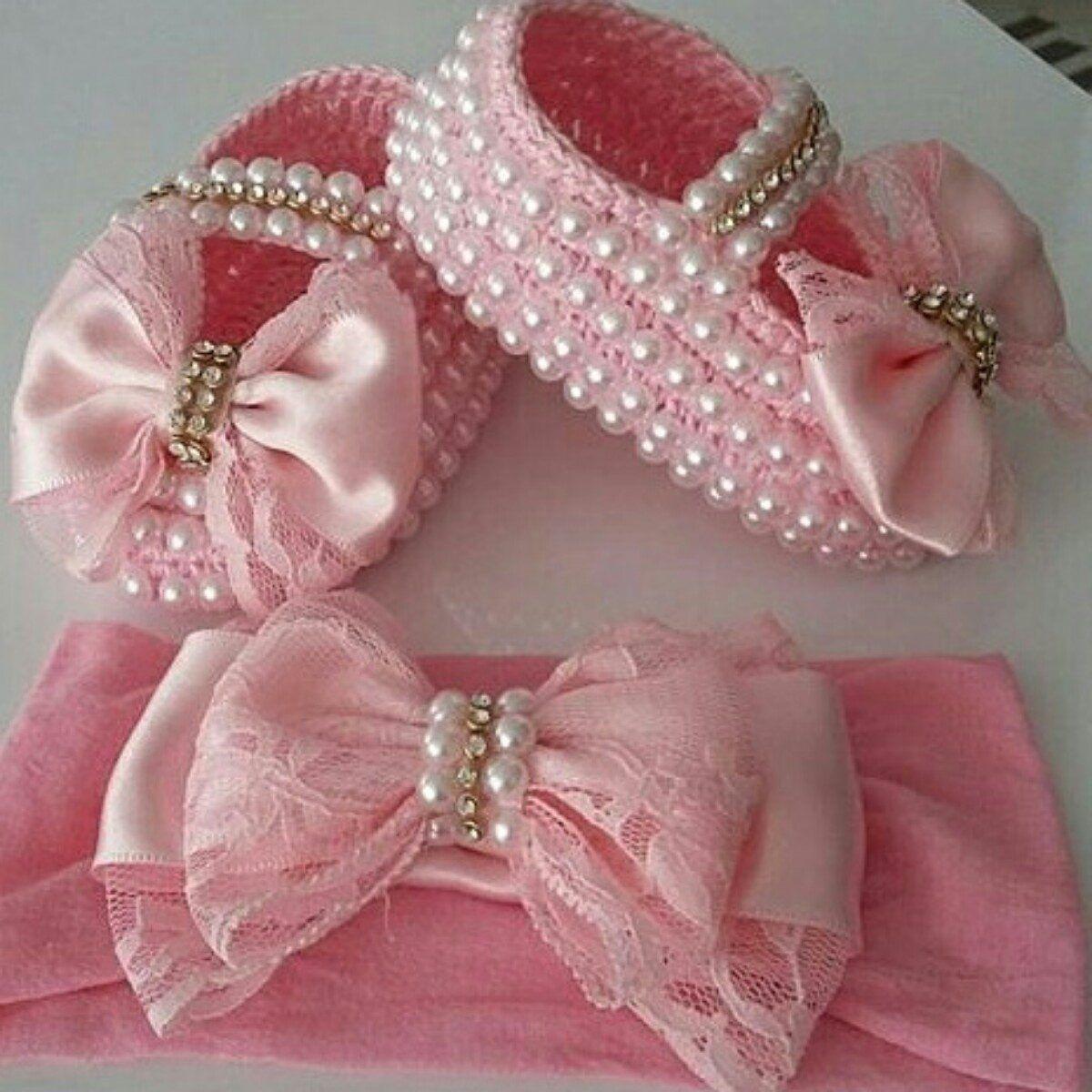 04fed707a kit sapatinho bebe | bows | Sapatos, Sapatos de crochê para bebês ...