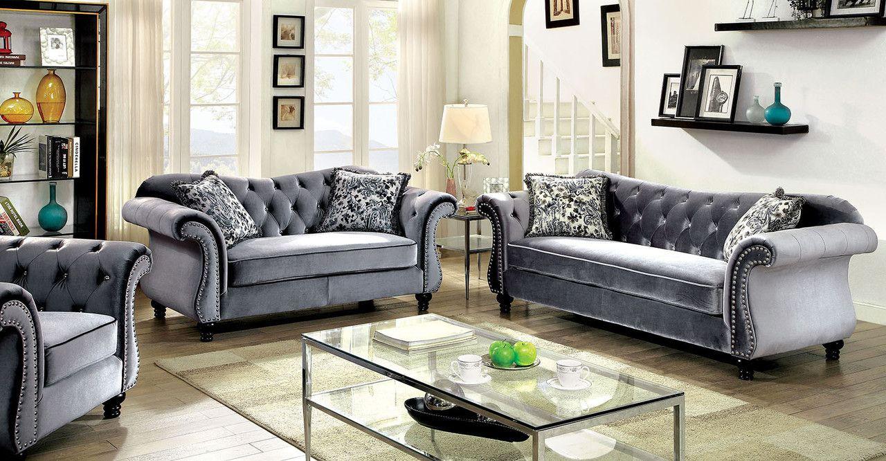 Furniture of america jolanda sofa and love seat set cmgy sofa