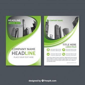 グリーン企業概要パンフレット design pinterest flyer template