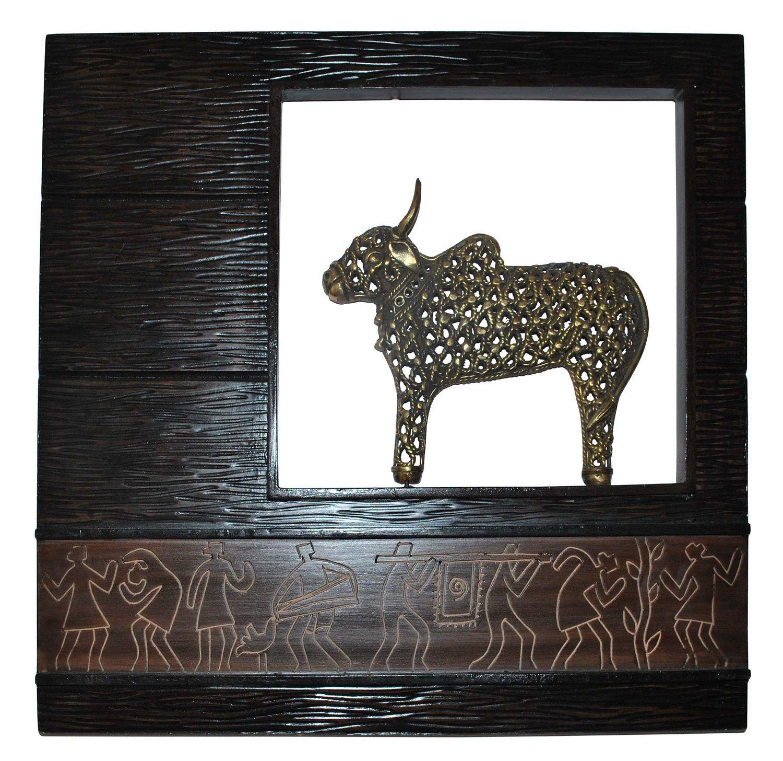 Jaali nandi wooden frame shop online at #craftshopsindia | Indian ...