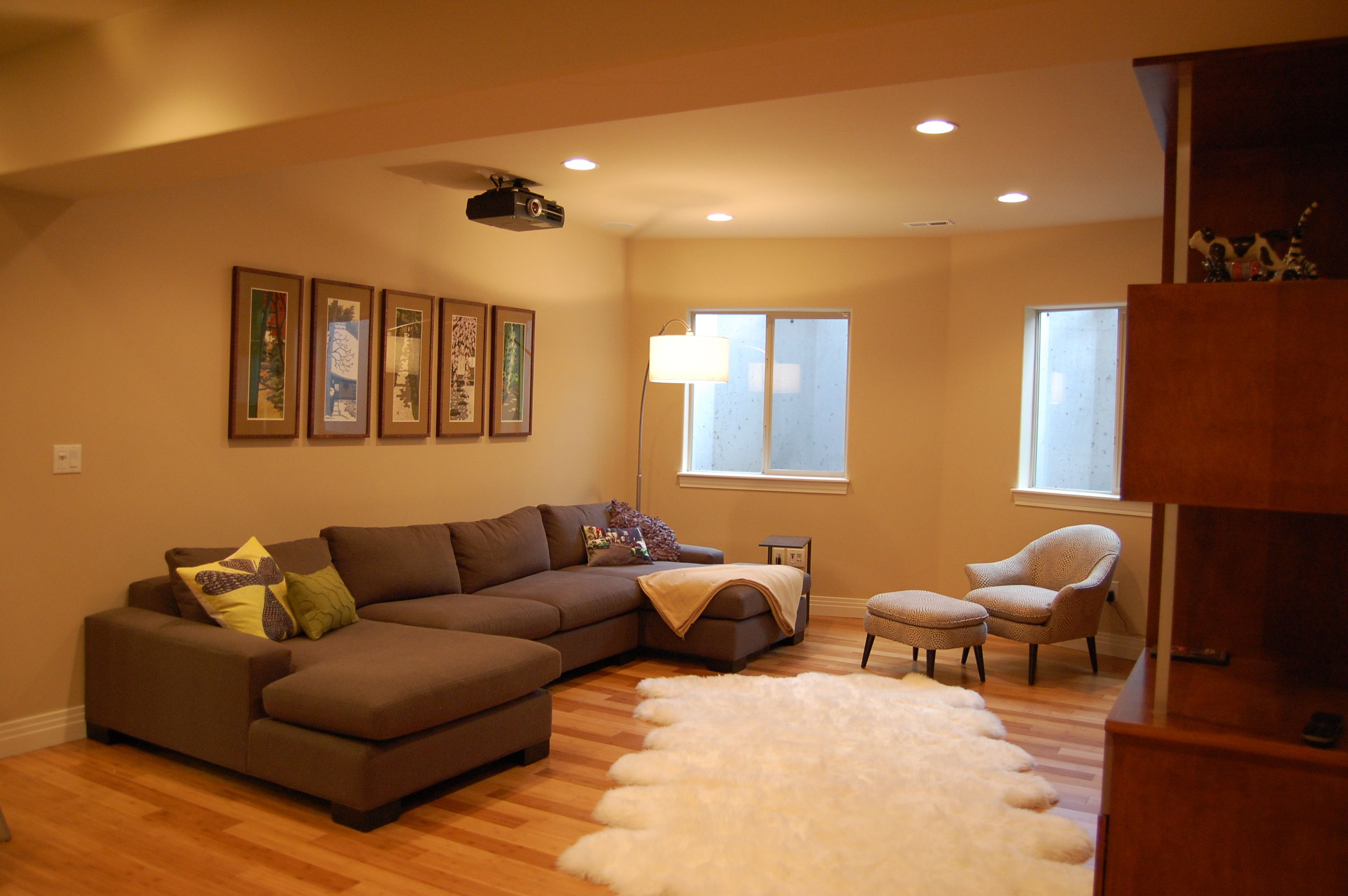 Design Your Living Room Online Free Interesting Basement Into The Living Room  Home Design Warm And Modern Inspiration Design