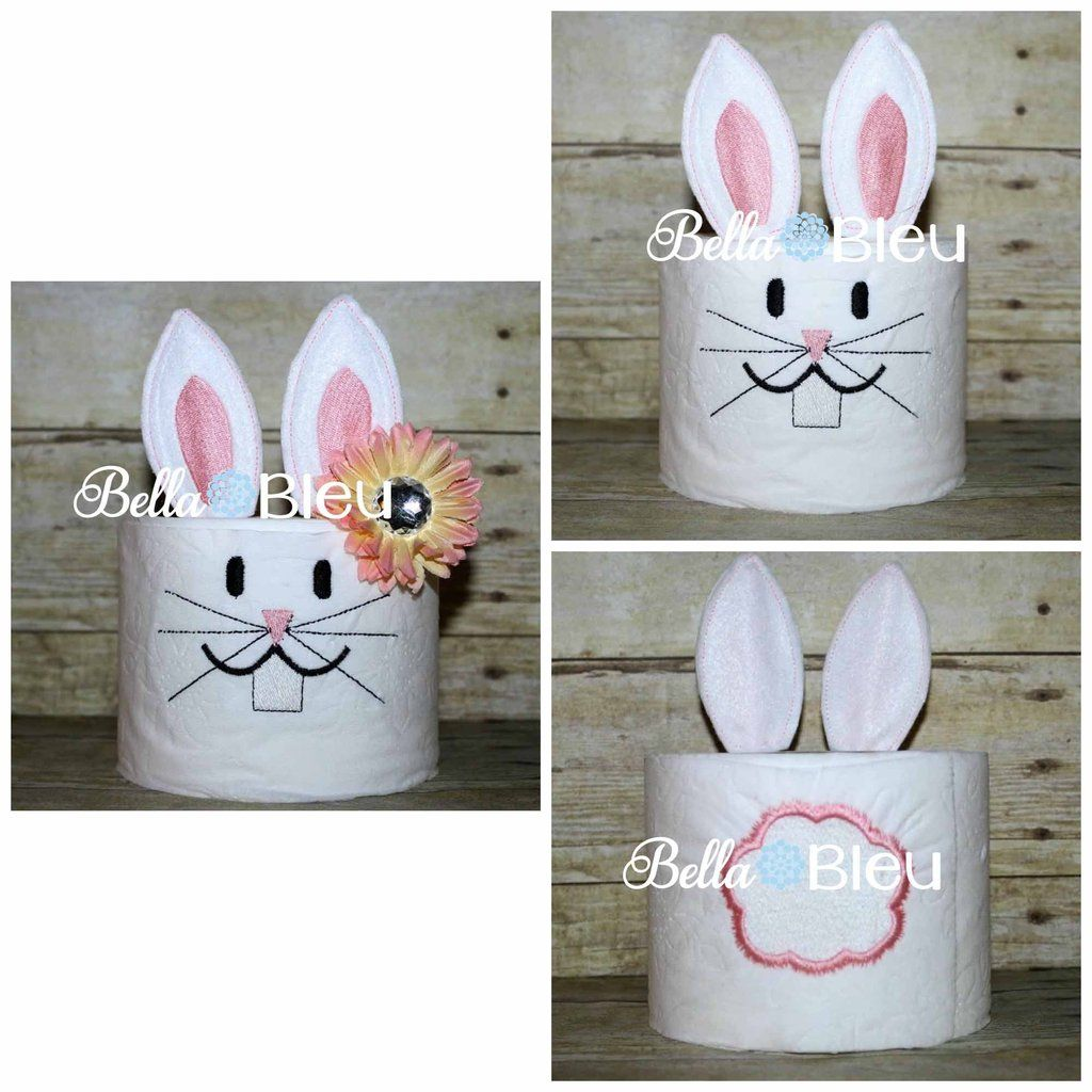 Embroidery designs for toilet paper - Adorable Easter Baby Bunny Toilet Paper Embroidery Design What S Included Bunny Face Bunny Tail And Bunny Ears Ith Part To Make The Hair Stand Up You