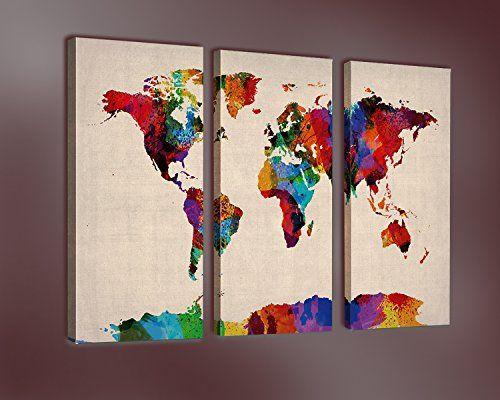Nuolanart world map in watercolor premium canvas art https nuolanart world map in watercolor premium canvas art https gumiabroncs Image collections