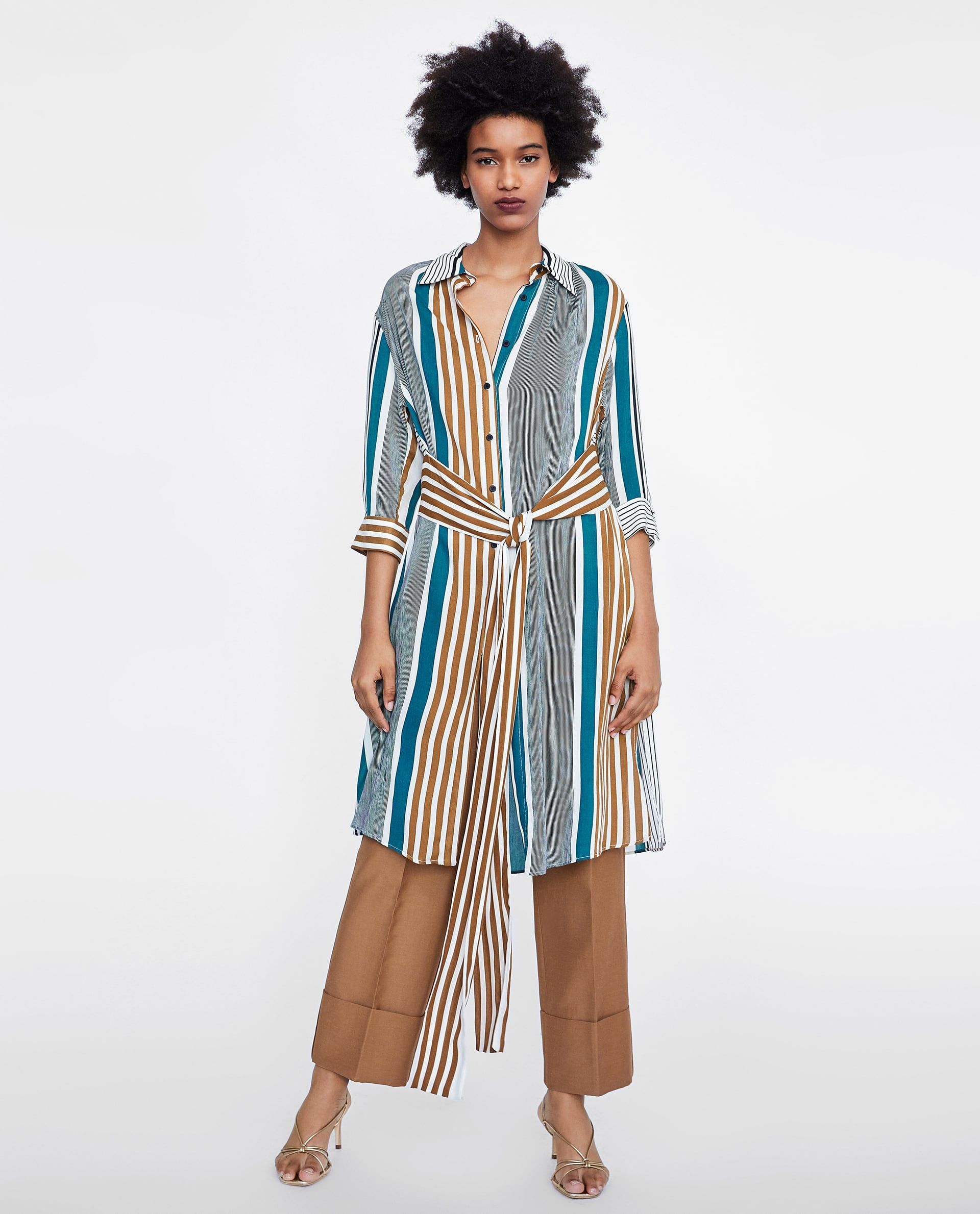 9a5b3c6894048 ZARA - WOMAN - STRIPED SHIRT DRESS Spring Summer 2018