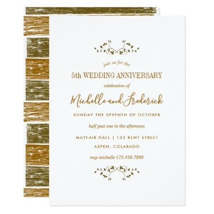 Th Wooden Wedding Anniversary Invitation  Wedding Invitations