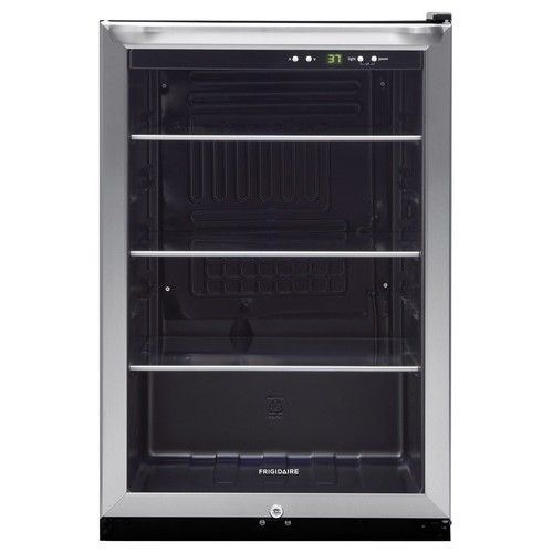 Frigidaire - 4.6 Cu. Ft. Beverage Center - Stainless Steel - Larger Front