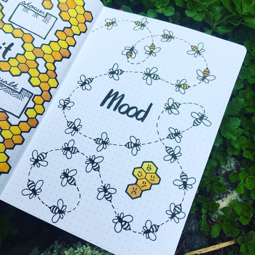30+ Unique Bullet Journal Mood Tracker Ideas to Keep You Mentally Equipped #bulletjournaling
