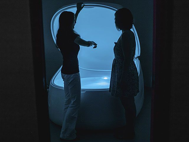 Are you sore? Stressed? In need of some womb-like isolation? Devotees of flotation therapy say an hour in a sensory deprivation pod could cure all that and more. Isthmus staffer Allison Geyer took the plunge at a float center on Madison's west side.