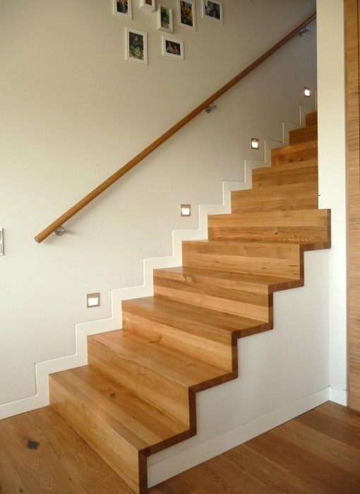 Lighting Basement Washroom Stairs: Sockel In Weiß ?! Massivholztreppen
