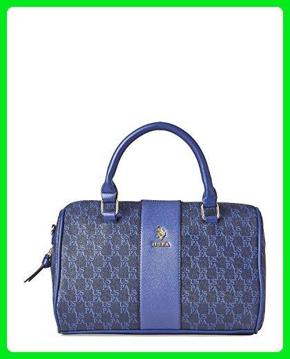 b3064db45d US Polo Assn. Womens Handbags USPA Monogram Top Handle Satchel Bag Blue -  Satchels ( Amazon Partner-Link)
